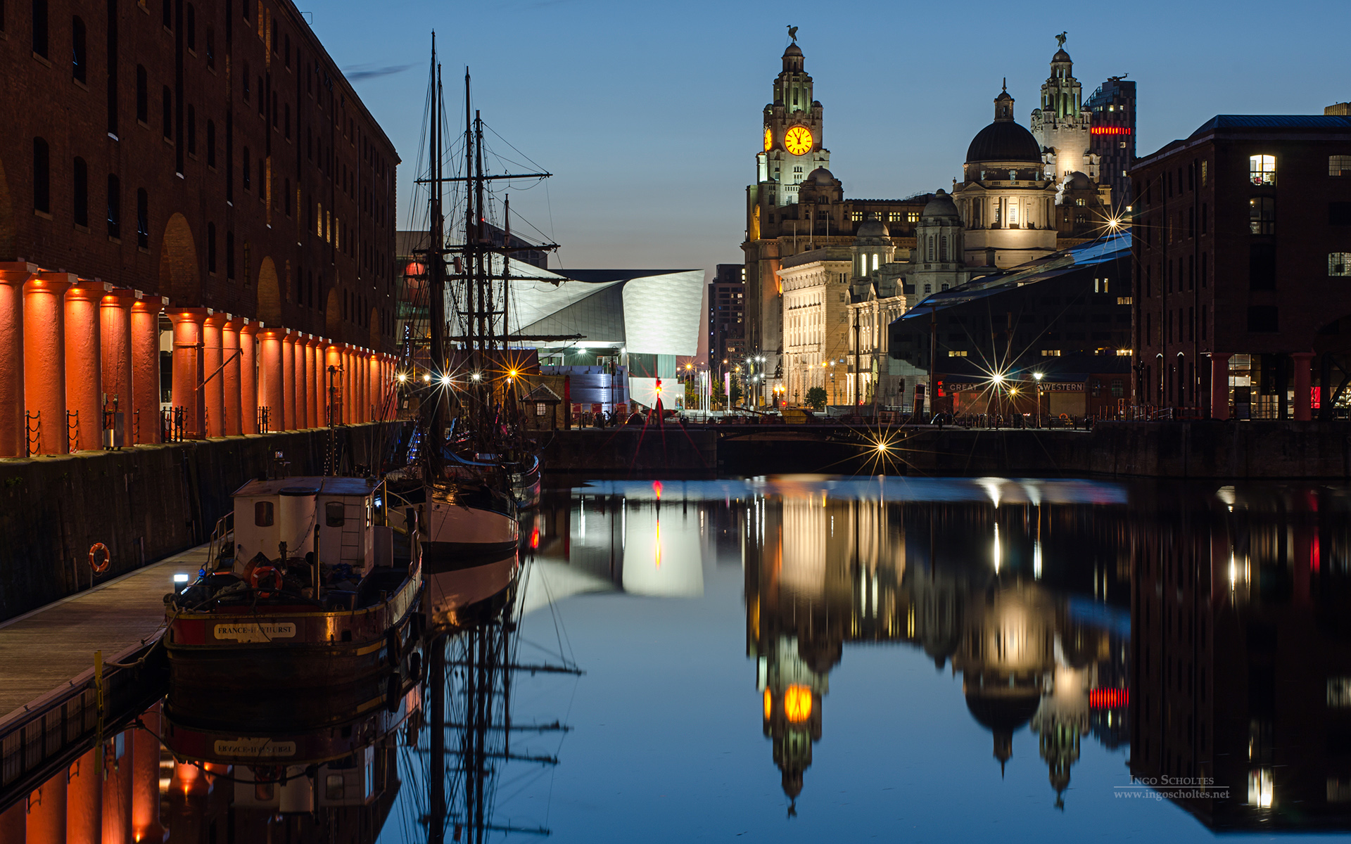 Albert Dock, Liverpool, England, U.K.