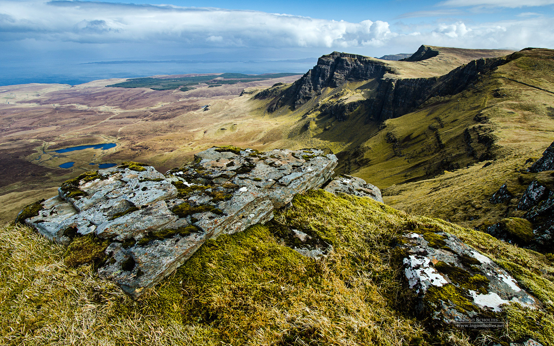Trotternish Ridge, Isle of Skye, Scotland, U.K.